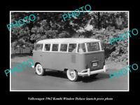 OLD LARGE HISTORIC PHOTO OF 1962 VOLKSWAGEN KOMBI DELUXE LAUNCH PRESS PHOTO 3