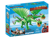 Playmobil 9458 Dreamworks Dragons Ruffnut & Tuffnut with Barf & Belch MIB / New