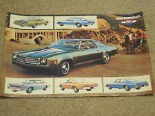1973 Chevrolet Chevelle SS, Malibu,Laguna Dealer Sales-Showroom Brochure-Poster