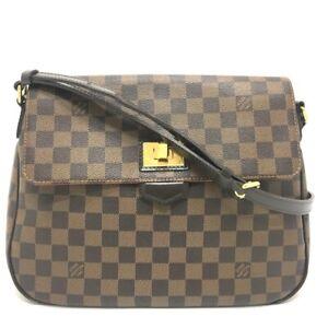LOUIS VUITTON N41178 Damier Buzas-Rose Berry Crossbody Shoulder Bag DamierCanvas