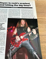 1988 Vintage 1Pg Magazine Article Is Slayer Hitting The Big Time? Kerry King