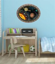 "24"" Porthole Space Window SOLAR SYSTEM #2 OVAL Wall Decal Graphic Art Sticker"