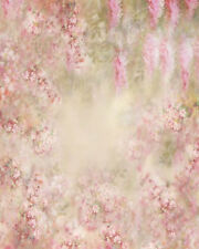 PINK WISTERIA FLORAL BABY BACKDROP BACKGROUND VINYL PHOTO PROP 5X7FT 150X220CM