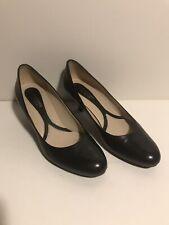 Naturalizer Marianne N5 Comfort Black Leather Pump 7W, 2.25 Inch Heel