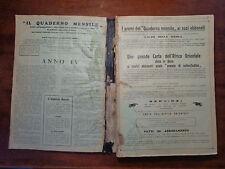 LIBRO IL QUADERNO MENSILE 1935 EDIZIONI EDICATIVE  NUMISMATICA SUBALPINA