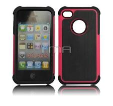 Hybrid Impact Shock Proof Rugged Shell Skin Case Cover For iPhone 4 4S - Pink