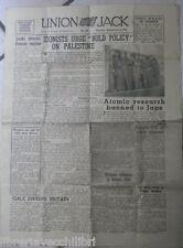 UNION JACK 25 Settembre 1945 Politica Ebraica Palestina Bomba atomica Giappone
