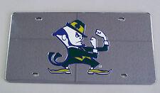 Notre Dame Fighting Irish Mirrored License Plate Mascot