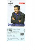 Autografo del comico, attore e showman Giorgio Panariello + biglietto teatro