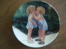 """Peppermint Kiss"" by Donald Zolan Children Mini Porcelain Plate Pemberton &Oakes"
