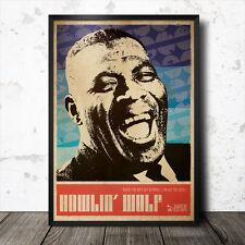 Howlin' Wolf Blues Art Poster John Lee Hooker Lead Belly Muddy Waters  B.B. King