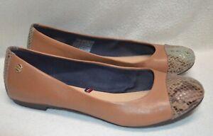 Women's Tommy Hilfiger Amy 4Z Slip On Flats Summer Cognac Shoes Size EUR 37