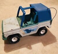 T-Top Tonka Bronco Jeep 835 TR Vintage Large Blue 1970s Pressed Steel toy TRUCK