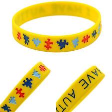 I Have AUTISM Wristband Alert Medical ID Silicone Bracelet Emergency Cuff Bangle