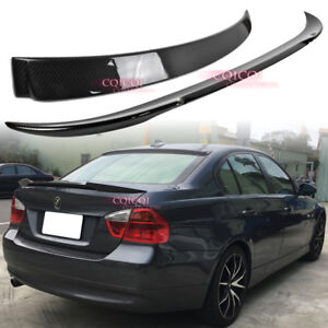 Carbon BMW 06~11 E90 3-series sedan A type roof spoiler + V type trunk spoiler◎
