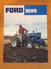 Ford 1600 Compact Tractor Color Brochure 8 pg. original vintage '76