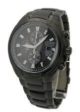 Citizen CA0265-59E Mens Black Titanium Eco Drive Chronograph Sapphire Watch
