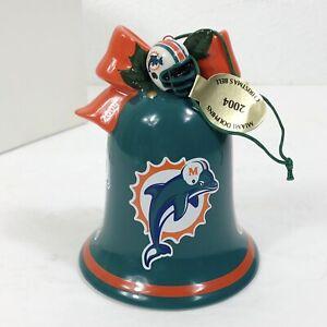*NEW* Vintage 2004 DANBURY MINT Miami Dolphins Christmas Ornament W/ Mini Santa