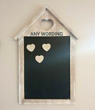 Personalised rustic Wood Heart Chalk Message Board