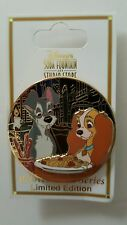 Disney DSF DSSH Beloved Tales Lady & Tramp Eating Spaghetti LE Pin on Card