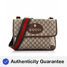 Gucci GG Neo Vintage Solapa Mensajero recubierto de Lona MEDIANO