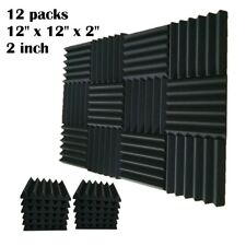 12 pcs 2x12x12 IN Premium Acoustic Foam Panel Tile Wall Record Studio Soundproof