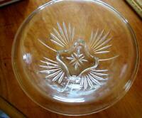 """Vintage Depression Federal Clear Glass Star Mixing Bowl 7"""" W 2.5"""" H"""