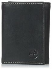 Timberland Cloudy Passcase Black Genuine Leather Credit Card Trifold Men Wallet