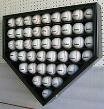 46 Baseballs Baseball Display Case Wall Holder Cabinet-UV Protection, B46-BL