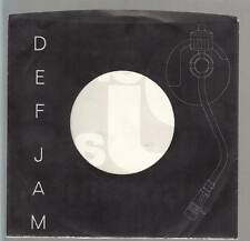 Company Sleeve 45 DEF JAM Black w/ White Lettering & Record Player Arm Design Gl
