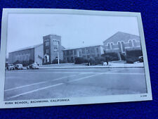 vintage PHOTO POSTCARD high school RICHMOND california EAST BAY area