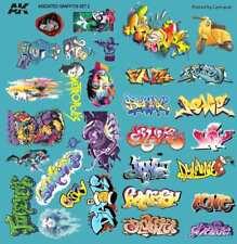 ASSORTED GRAFFITI DECALS - AK Interactive 9091