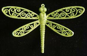 "Vickerman 6"" Green Glittered Dragonfly Christmas Ornament"