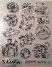 Clear Stamp Set- Travel Vacation: Road Trip Holiday Plane -approx. 150mm x 180mm