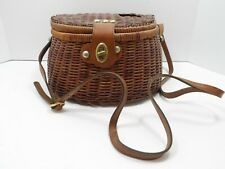 Vintage Wicker and Leather Fishing Creel