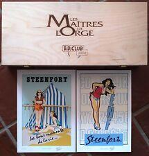 VALLES - Coffret Bois LES MAITRES DE L'ORGE 7 verres à bière + 2 sérigraphies