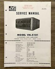 JVC NIVICO VN-5101 Service Manual - 4-Channel ADD Amplifier.
