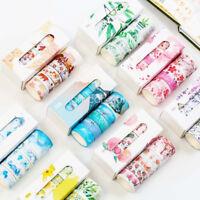 5pcs/box Washi Tapes Decorative Adhesive Tape Festival DIY Crafts Gift Wrapping