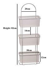 3 Tier Free Standing Bathroom Shower Caddy 3 Plastic Basket Organiser Rack Tidy