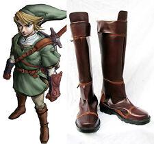 The Legend of Zelda link Cosplay Kostüme Schuhe Shoes Boots Stiefel costume Neu