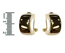 Casual 14K GEP Half Hoop Omega French Back Earrings