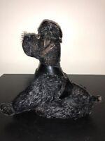 "9"" STEIFF BLACK POODLE VINTAGE PLUSH DOLL GERMANY ANTIQUE DOG PUPPY"