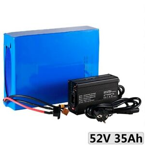 Lithium Ion Li-ion Battery 52V 35AH Rechargeable Electric E Bike Bicycle Scooter