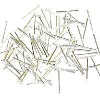 "M610 Silver 21 Gauge 1/2"" Flat Headpin Jewlery Plated Brass Component 100pc"