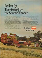 1974 XLARGE Print Ad of Massey Ferguson MF Farm Tractor 124 Hay Baler