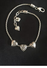 Sliding Etched Hearts Adjustable 9�-10� Brighton Enchanted Hearts Ankle Bracelet