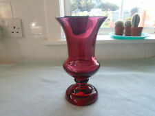More details for antique cranberry glass apothecary / chemist / pharmacy vase