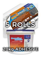 Wallrock 5 Rotoli Termici Liner & 20 kg fodera termica Adesivo