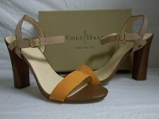 Cole Haan Size 11 M Minetta Citrine Leather Open Toe Heels New Womens Shoes