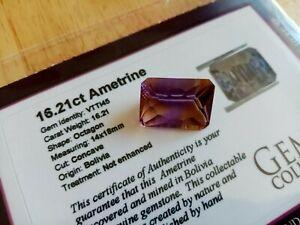RARE Ametrine loose gemstone with COA 16.21ct